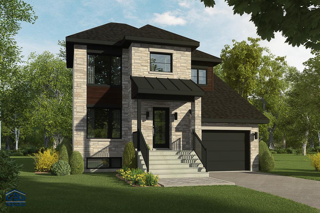 Ascendance maison neuve deux tages de type cottage for Belle architecture moderne