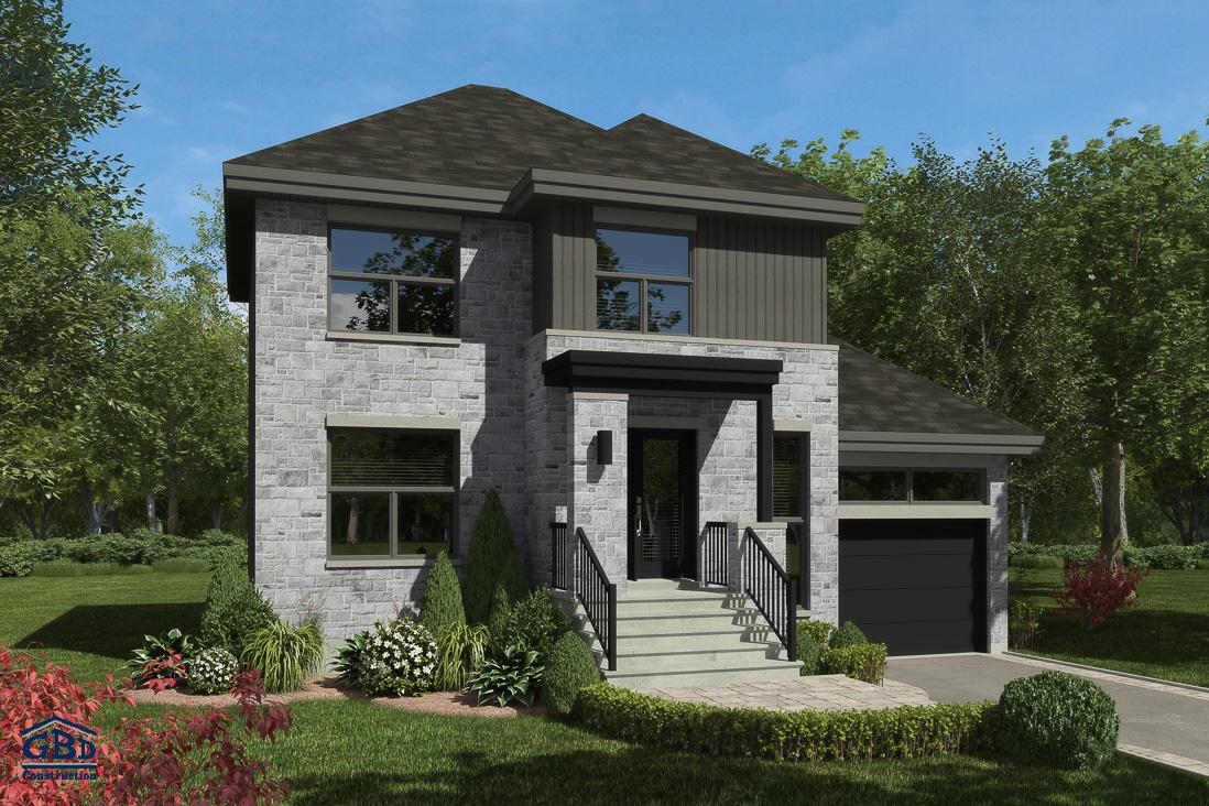 Cit maison neuve deux tages de type cottage gbd construction for Modele maison neuve