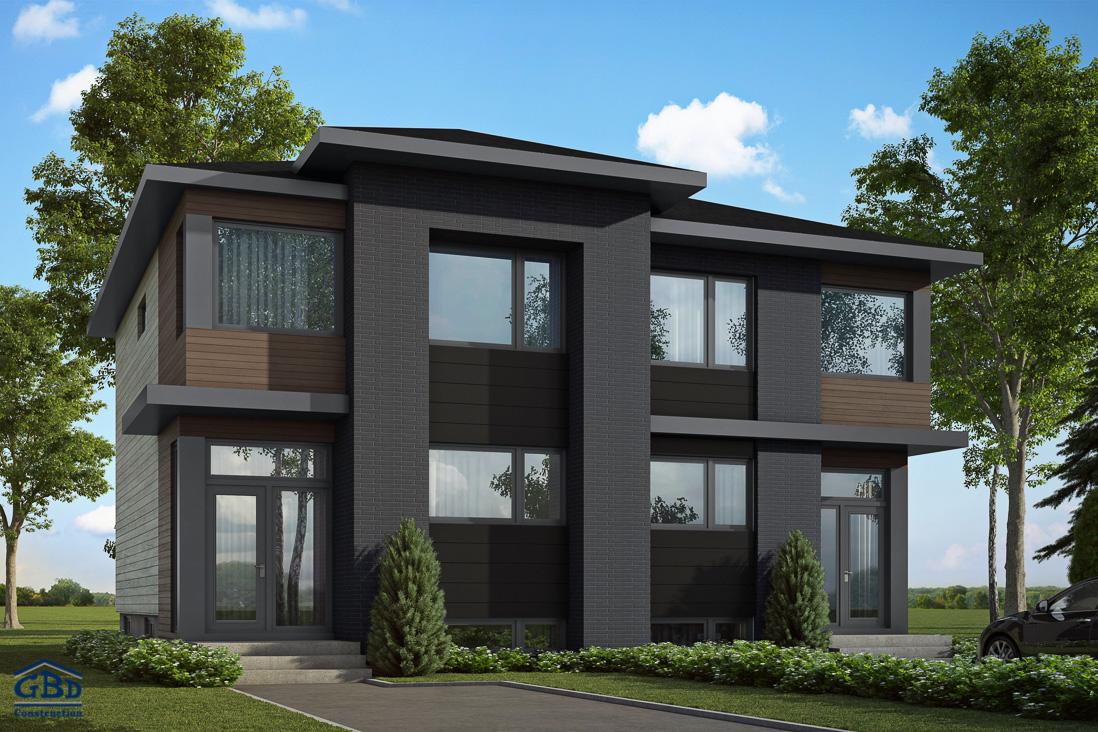 m l ze maison neuve jumel e gbd construction. Black Bedroom Furniture Sets. Home Design Ideas