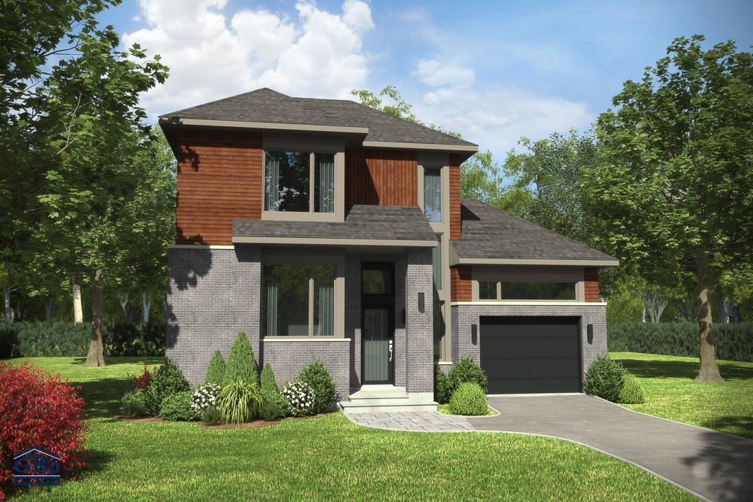 Urbania maison neuve deux tages de type cottage gbd for Ajouter garage contre maison