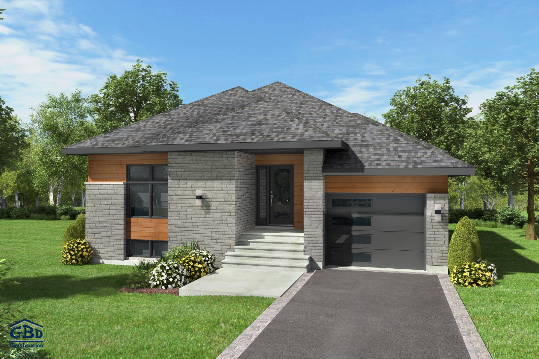 Actuel - Maison neuve à un étage de type plain-pied | GBD Construction