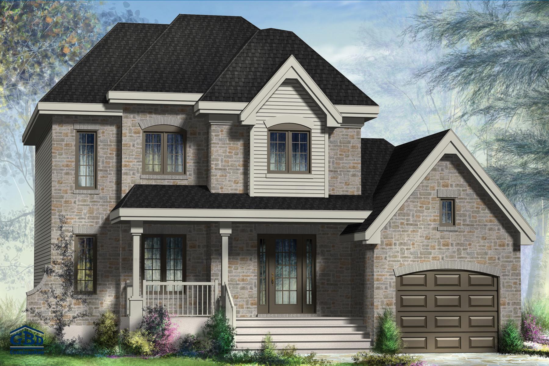 Maison style cottage au niveau de la conception de la for Maison style cottage