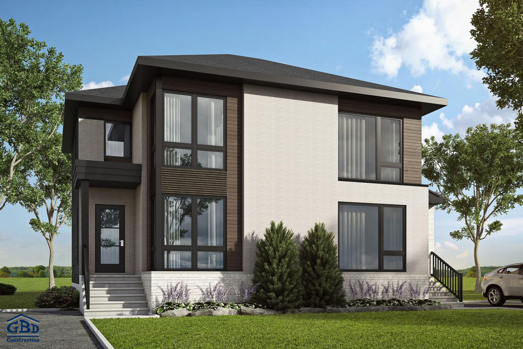 Ch ne maison neuve jumel e gbd construction for Modele maison neuve