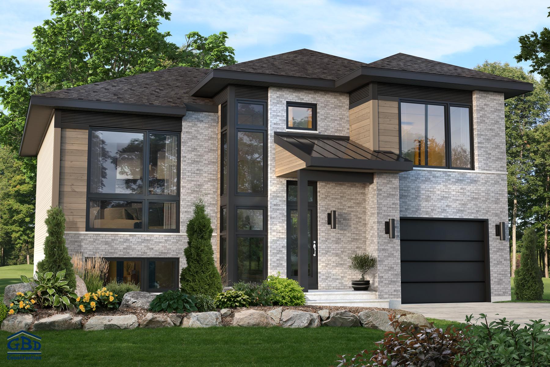 den maison neuve deux tages de type cottage gbd construction. Black Bedroom Furniture Sets. Home Design Ideas