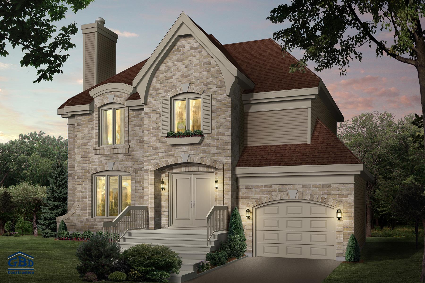 Étonnante - Maison neuve à deux étages de type cottage   GBD ... 4b27a1bc6e69