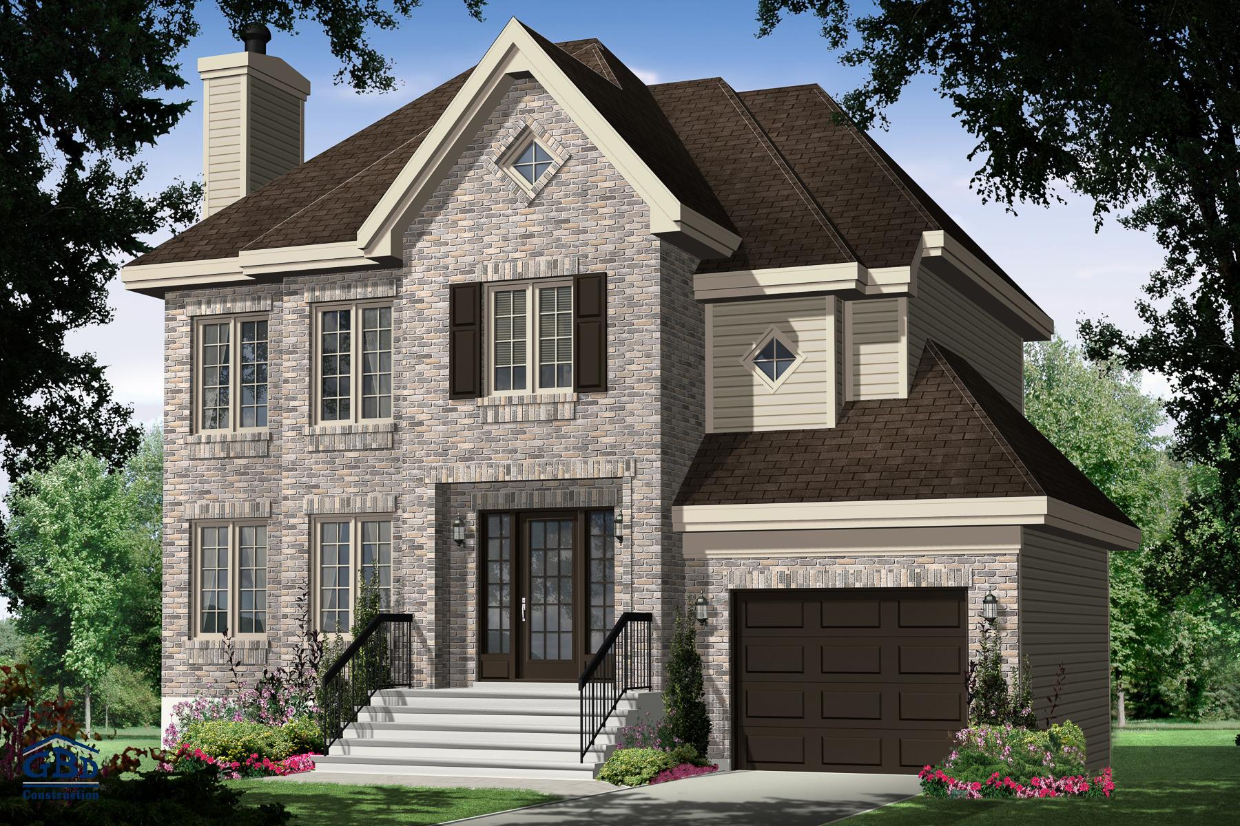 Étonnante III - Maison neuve à deux étages de type cottage   GBD ... ae375911b965
