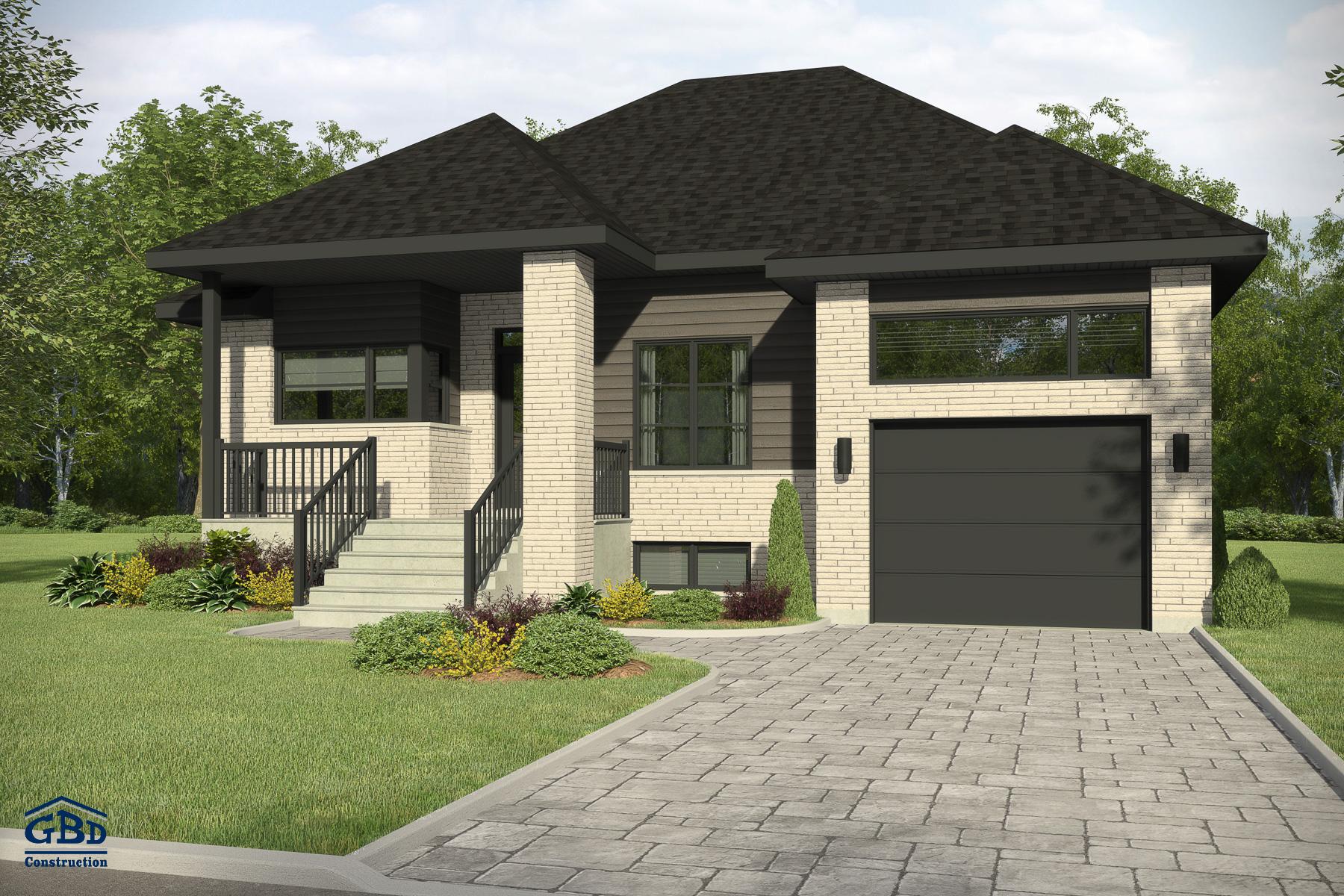 Mentor maison neuve un tage de type plain pied gbd construction - Style maison moderne ...