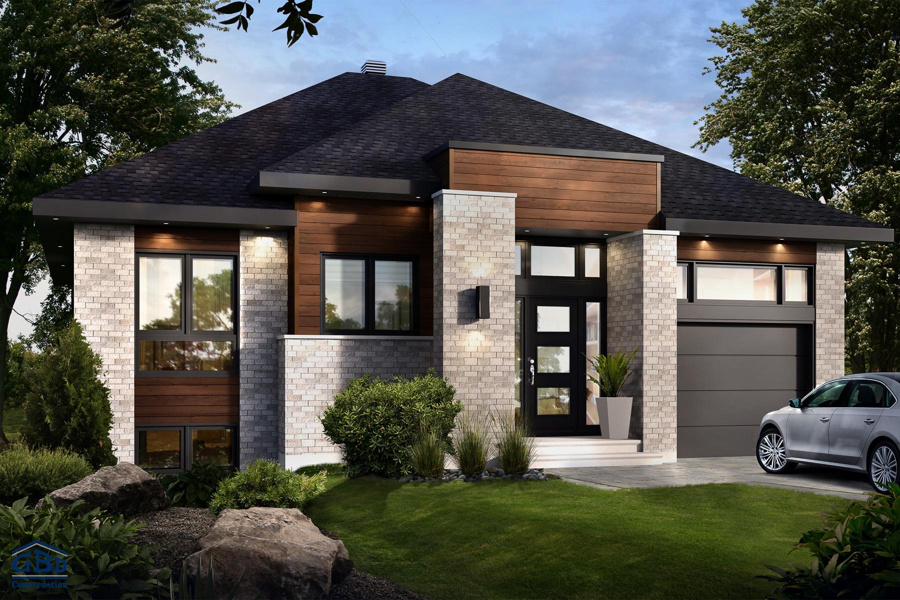 Mythique - Maison neuve à un étage de type plain-pied | GBD Construction