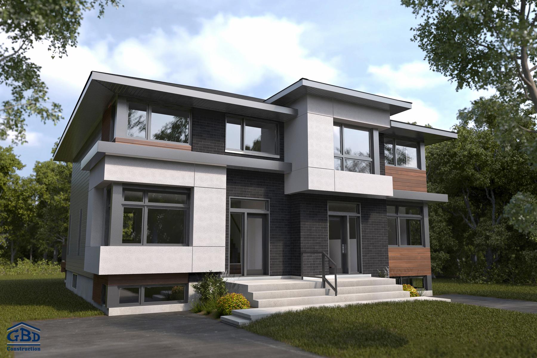 Ruisseau maison neuve jumel e gbd construction - Modele d architecture de maison ...