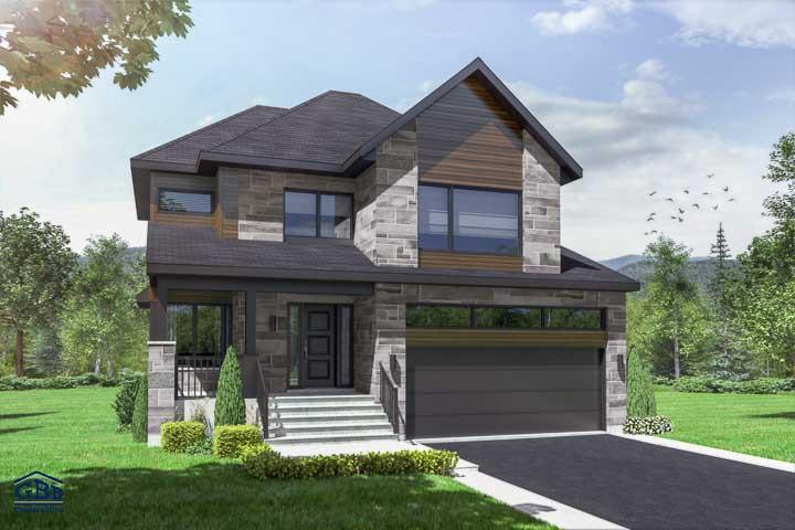 Plan D Une Maison Moderne étages : Maison neuve condo neuf jumelée de ville