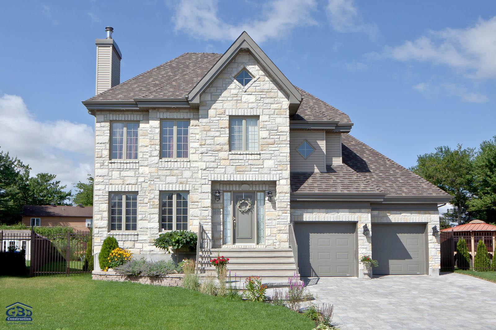 Tonnante iii maison neuve deux tages de type cottage gbd construction - Maison a etage ...