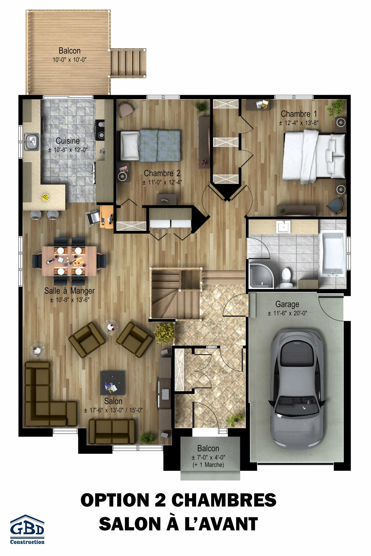 d coration plan de maison plain pied en autoconstruction 18 plan de campagne aix en. Black Bedroom Furniture Sets. Home Design Ideas