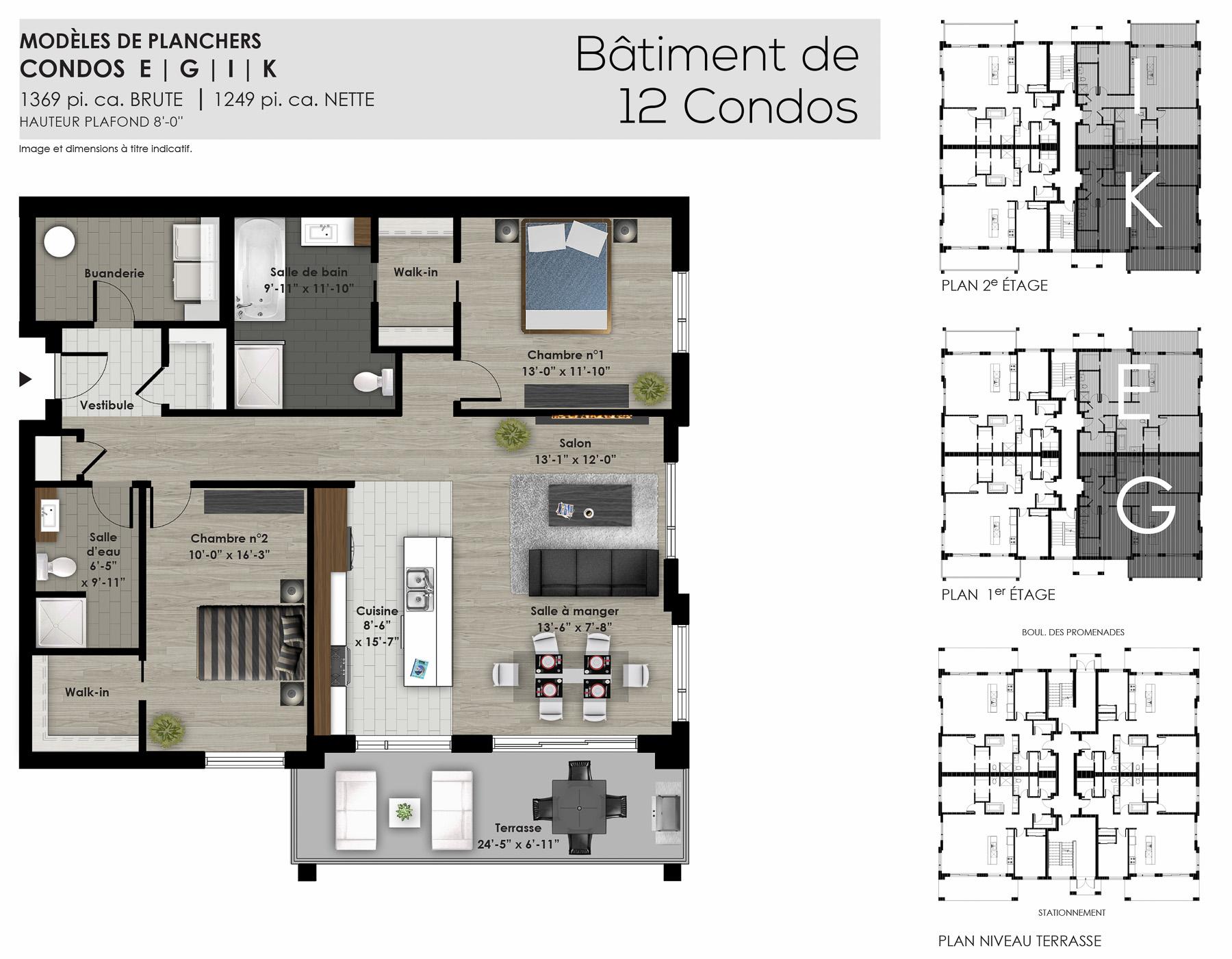 Condos centrocit 12 unit s condo neuf gbd construction for Condo plans with garage
