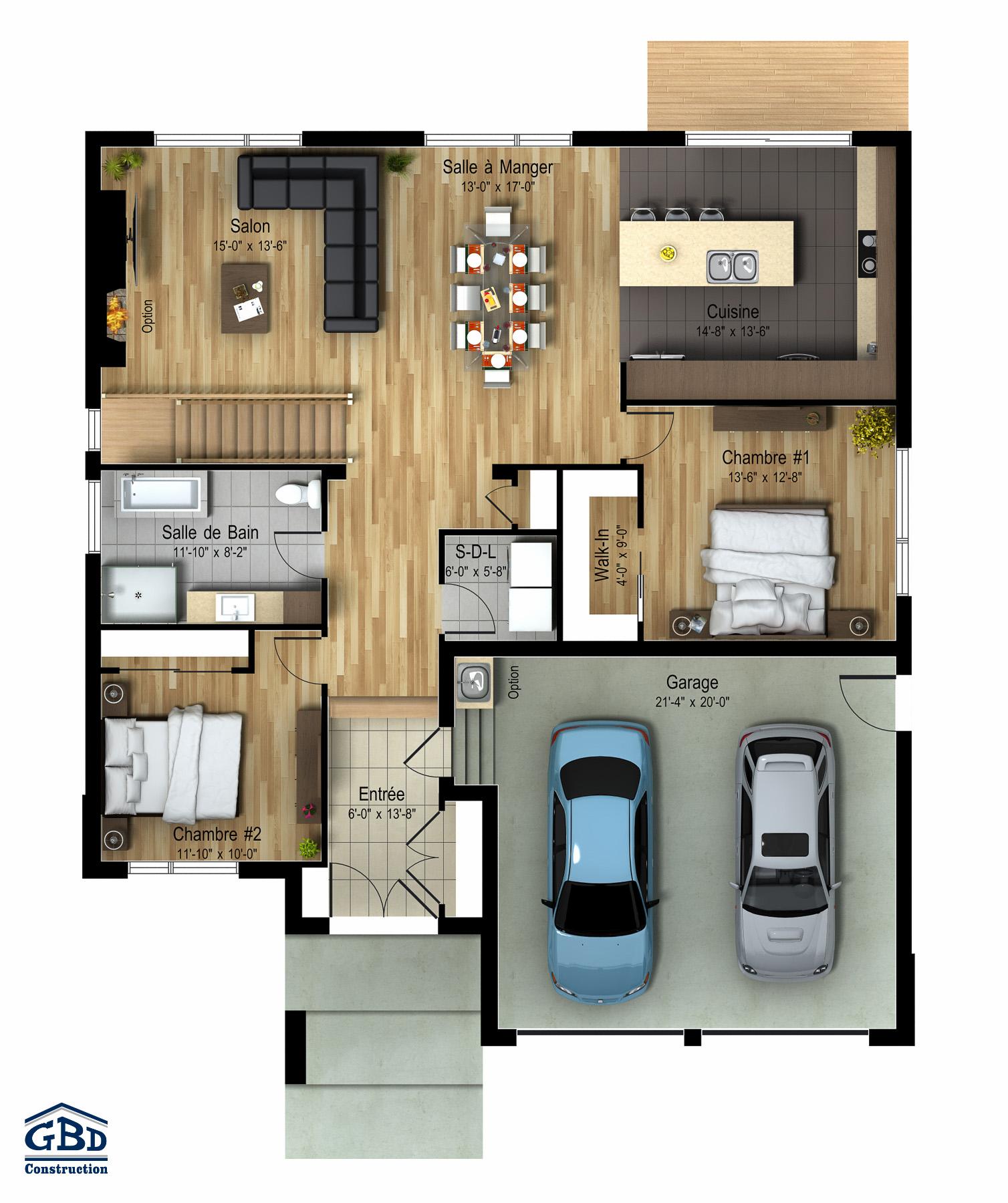 Madison Maison Neuve A Un Etage De Type Plain Pied Gbd Construction