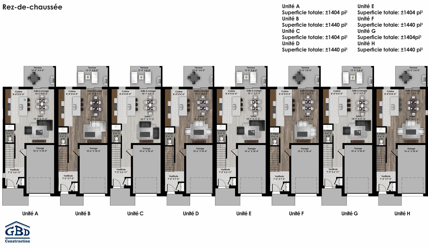 Montcalm maison neuve de ville gbd construction for Plans de maison de ville