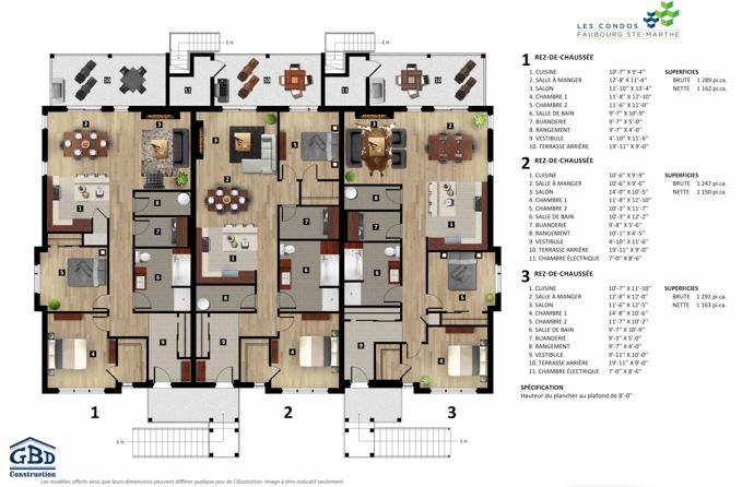 Condos du faubourg condo neuf gbd construction for Garage du faubourg le quesnoy