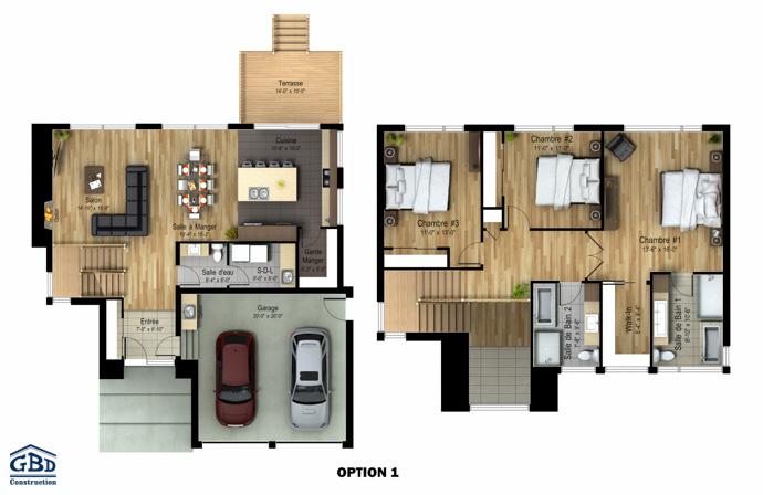 manhattan maison neuve deux tages de type cottage gbd construction. Black Bedroom Furniture Sets. Home Design Ideas