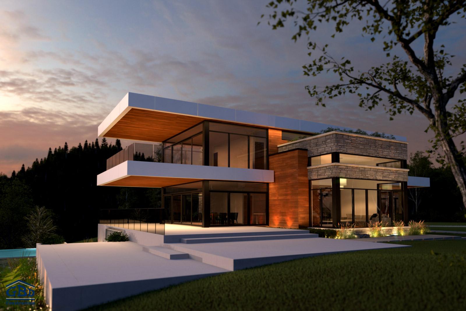 Perfect photo du projet prestige sur le lac with projet maison for Maison et prestige