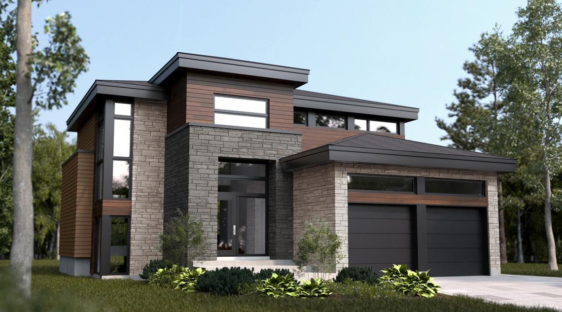 Modle de maison d tail du plan de maison w2957 on plan de for Model maison 2016